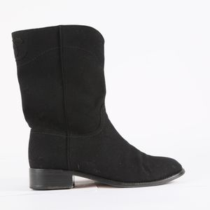 CHANEL Black Wool Boots